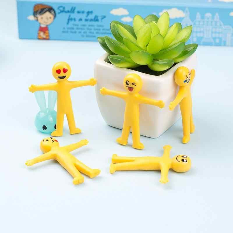LeadingStar Criativo Expressão Facial Pessoa Mole Para Aliviar O Estresse Squeeze Toy Mini Silicone Brinquedos Expressão Aleatória