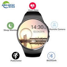 KingWear KW18 Bluetooth Smart Watch MTK2502 Pedometer Support SIM TF Card Smartwatch Heart Rate for Apple IOS huawei Android(China)