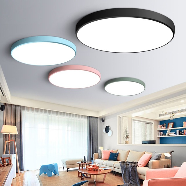 Ultra Thin Modern LED Ceiling Light Round Simple Decoration Fixtures Study Dining Room Balcony Bedroom Living Lamp