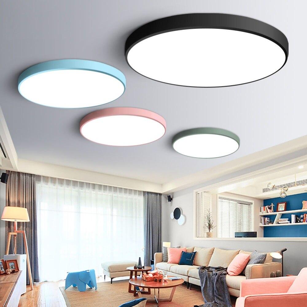 US $13.17 15% OFF|Ultradünne Moderne led deckenleuchte Runde einfache  dekoration leuchten studie esszimmer balkon schlafzimmer wohnzimmer ...