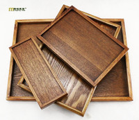 1PC 9 Size Wooden Tray Home Daily Tea Fruits Sundry Goods Storage Tray Korean Japanese Wood