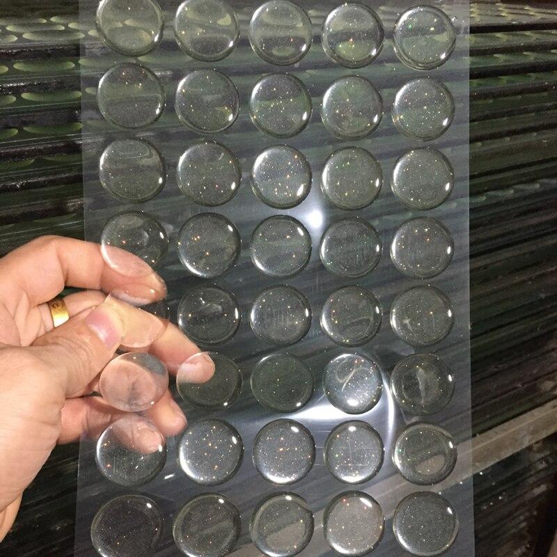 100 шт. Круглый прозрачный/флэш-прозрачный эпоксидный клей КРУГИ наклейки на крышечки для бутылок резиновая накладка горошек бутылки Кепки s разработке DIY