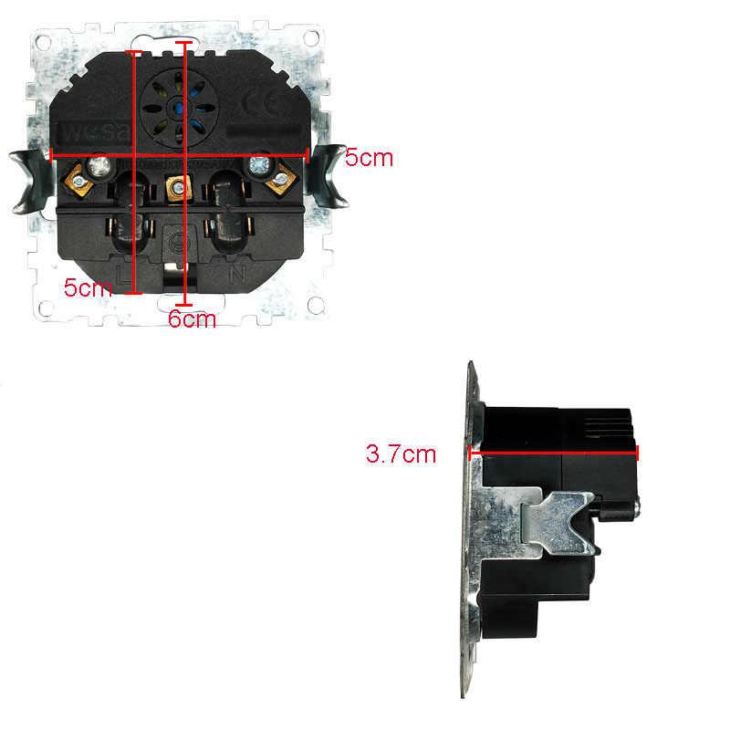 כפול USB אחד שקע קרקע עם לבן אקריליק תיקון מסגרת תקן אירופאי קיר מתאם 5v 2A מחבר פלט שקע