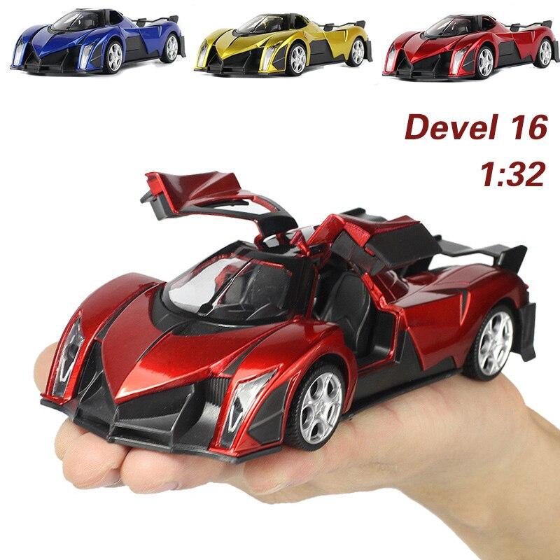 Nueva llegada 1:32 niños juguetes Desarrollo 16 Frío metal de coches de juguete