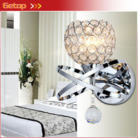 New Modern Crystal Wall Lamp Bedside Lamp Bedroom Stair Lamp Crystal Wall Lights E14 LED Gold