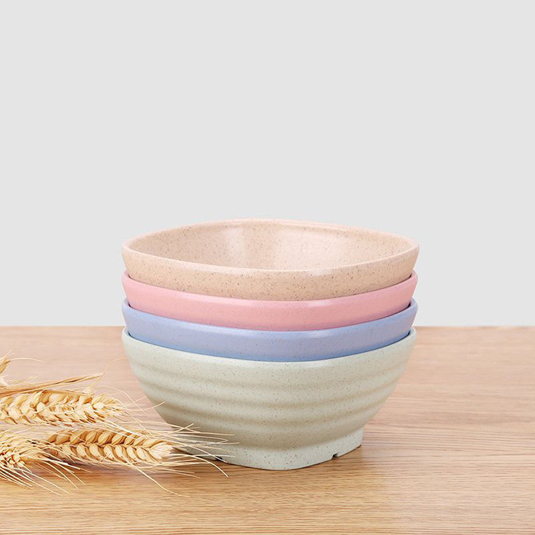 Bowl Wheat straw Creative square for children soup bowl font b salad b font dessert seasoning
