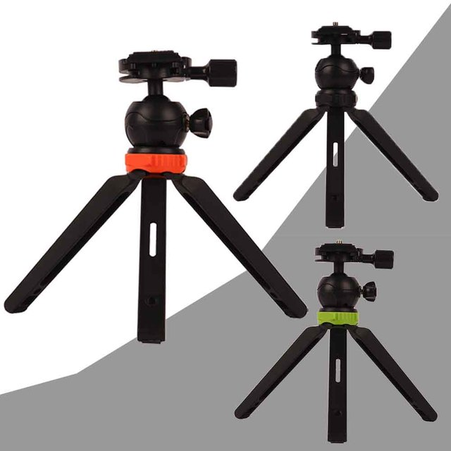 Professional Universal Mini Tripod Stand With Ball Head Quick Release Plate For DSLR Camera DV Mobile Smartphone Gopro Support