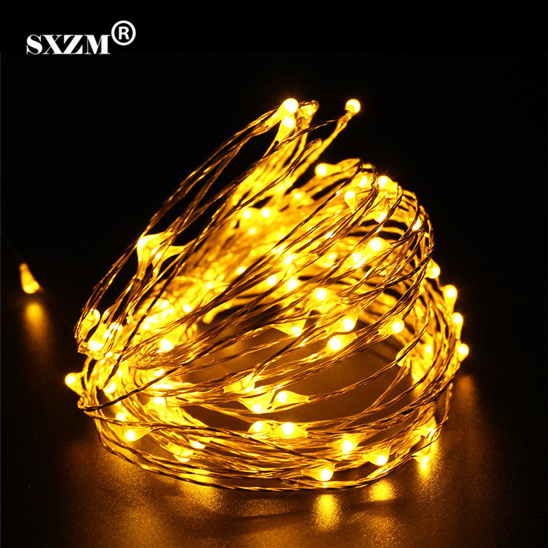 SXZM DC12V 6M 10M Waterproof LED Fairy String Lights Copper Wire romantic Lamps for outdoor Christmas Holiday Wedding Party