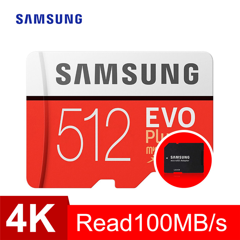 SAMSUNG 128GB 256GB 512GB EVO Class10 Plus Memory Card Micro Sd Waterproof TF Memoria Sim Card for Smart Phones Camera