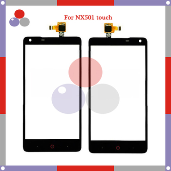 10pcs/lot High Quality For ZTE Nubia Z 5 NX 501 touch Screen Panel Sensor Digitizer Outer Glass Lens