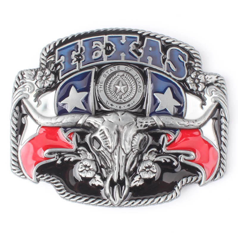 The Cowboys Of The West Belt Buckle Metal Belt Buckle Texas Cow Fashion Zinc Alloy Belt Buckle For 4.0 Belt