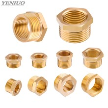 "Brass Hose Fitting Hex Reducer Bushing M/F 1/8"" 1/4"" 3/8"" 1/2"" 3/4"" BSP Male to Female change Coupler Connector Adapter(China)"