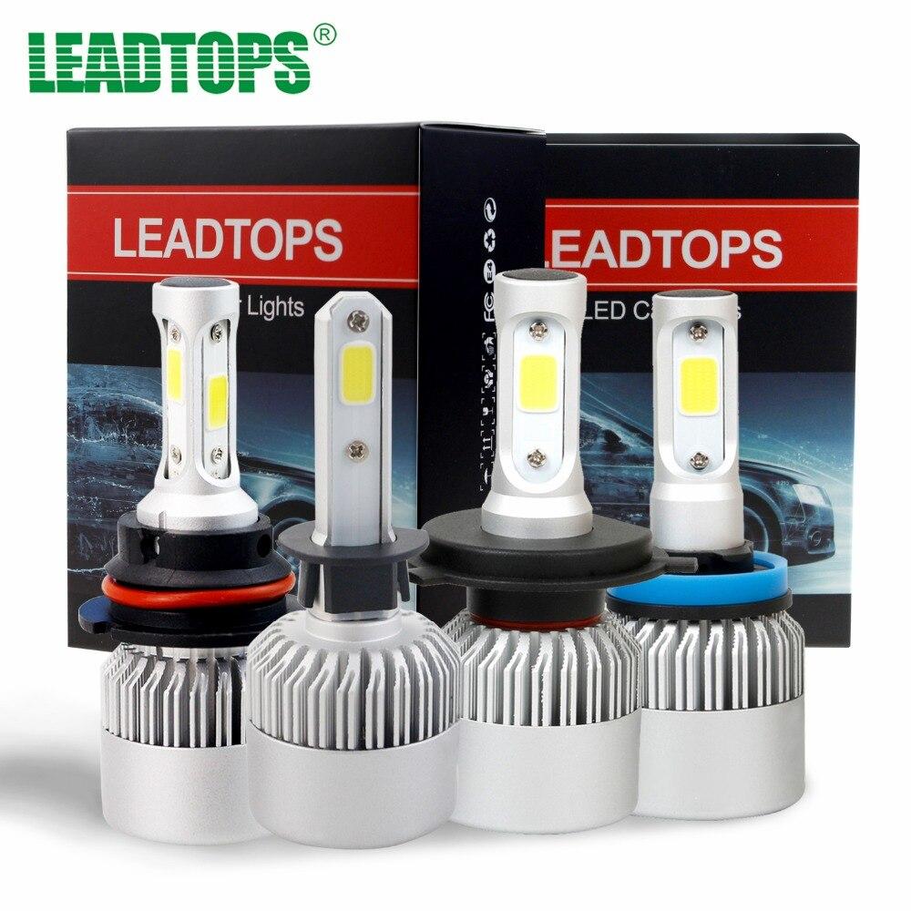 2X H4 Led Bulbs All In One Auto Car Headlight High Low Beam 9003 72W 8000LM 12V 6500K H1 H11 H7  Kit Super Bright Car DF