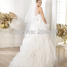 zhiling Sweetheart See Through Ball Gown Wedding Dress