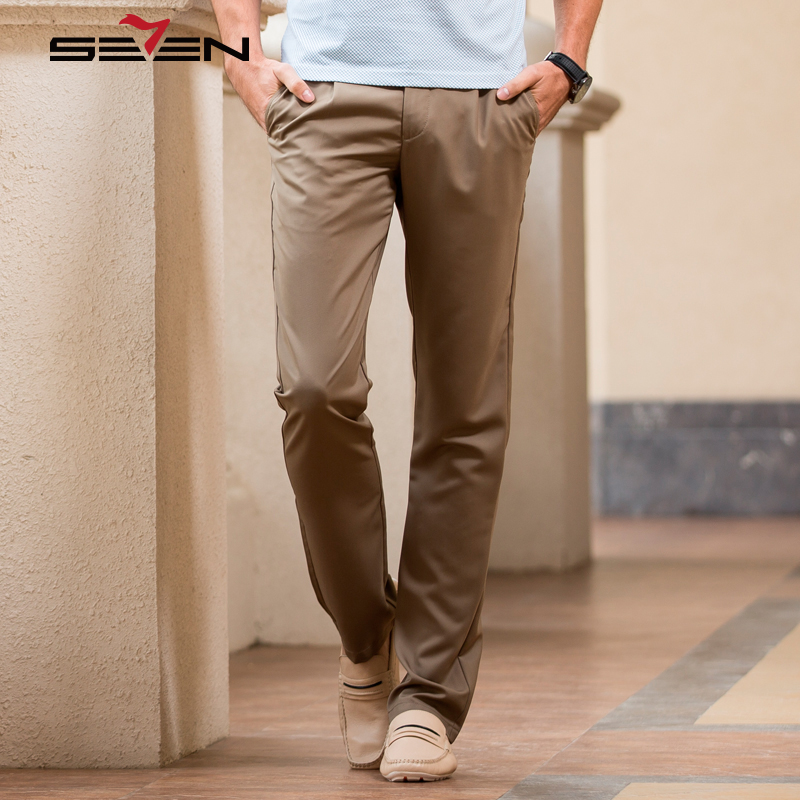Seven7 2018 New Arrival Casual Pants Men Brand Clothing Plus Size Classic Business Slim Fit Male Long Trousers 110S80120 2017jeans men new arrival brand clothing blue slim fit casual stretch denim pants high quality plus size free shipping