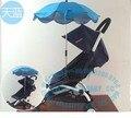 Cochecito de bebé paraguas coche cubierta para la lluvia cubierta de la lluvia impermeable cesta generales alargan a prueba de viento impermeable bebé impermeable coche
