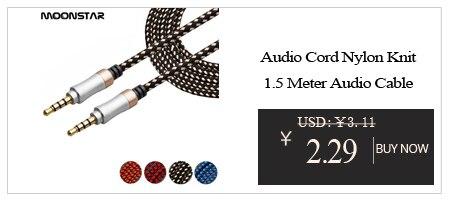 High quality Aluminium Alloy Earphone Audio Wire Aux Extension ...