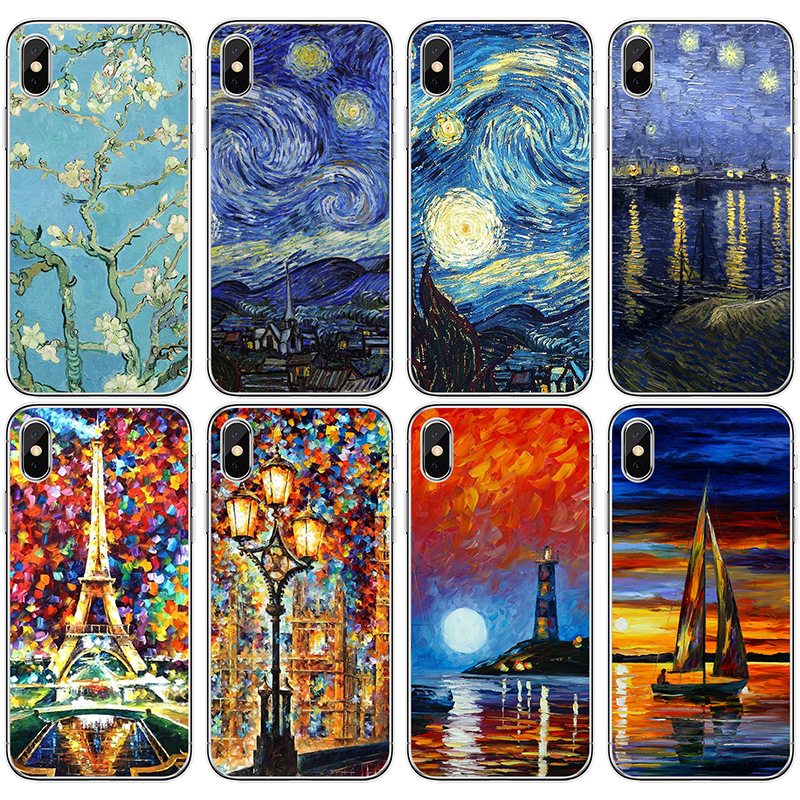 Hearty Babaite Vincent Van Gogh Starry Sky Oil Painting Soft Tpu Phone Case For Iphone X Xs Max 6 6s 7 7plus 8 8plus 5 5s Se Xr Phone Bags & Cases