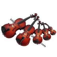 Réplica de modelo de violino personalizada, mini acessório de casa de bonecas com suporte e estojo, ornamentos de instrumento musical