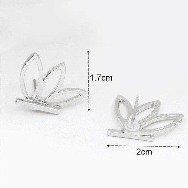 New Fashion Vintage Lotus Earring Metal Bar Stud Earrings for Women Earring Gold Silver Plated Ear.jpg 640x640 - New Fashion Vintage Lotus Earring Metal Bar Stud Earrings for Women Earring Gold Silver Plated Ear Jacket Jewelry Bijoux