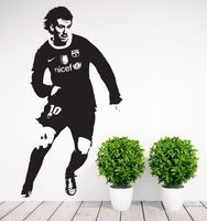Football Player Sticker Sports Messi Decal Posters Vinyl Wall Decals Pegatina Quadro Parede Decor Mural Football