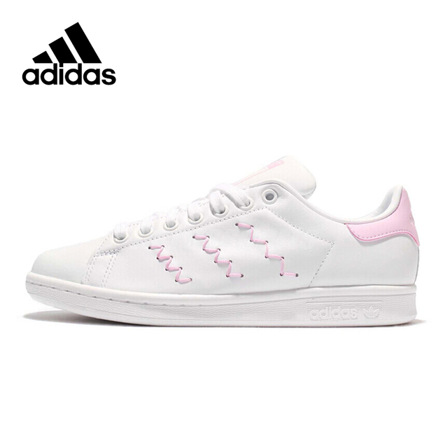 5c28cadbed786 Adidas Sneakers Originals Pink Stripe Women Lace-up Sports Skateboarding  Shoes Low-top Flat