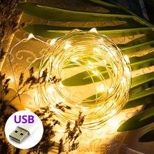 LYFS 2/5/10M USB Powered String Lights Copper Wire LED Lights Decoration Fairy Lights For Birthday Party Garland Wedding