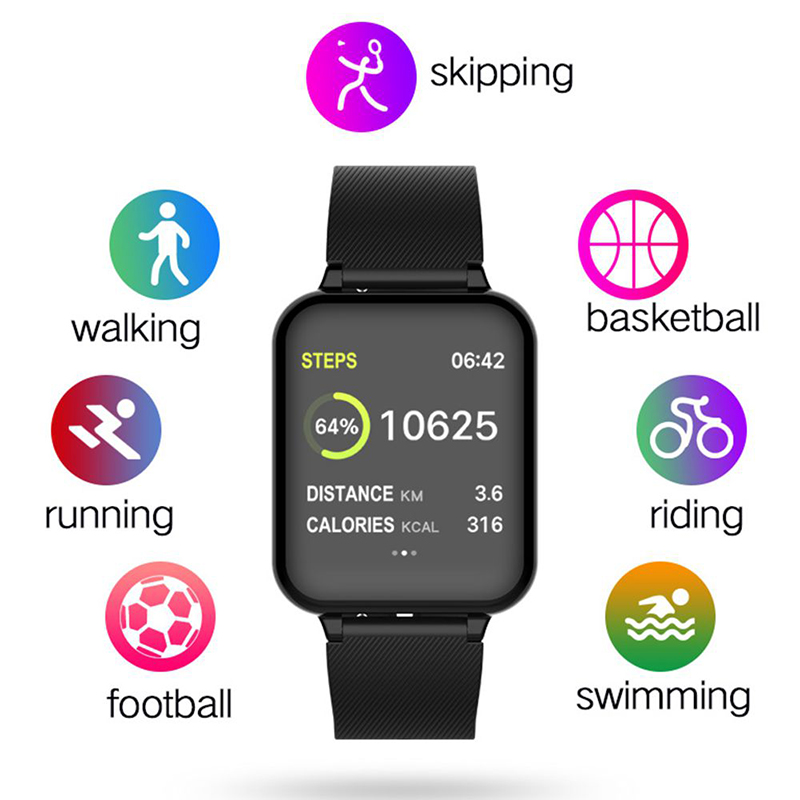 Men Women Fashion Sport Fitness Smart watch Bracelet Heart Rate Monitor Waterproof Blood Pressure SmartWatch For IOS And Android 3