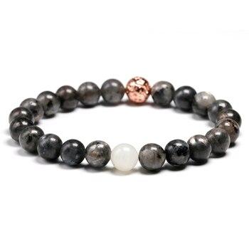 Bracelet Homme en Labradorite Noire