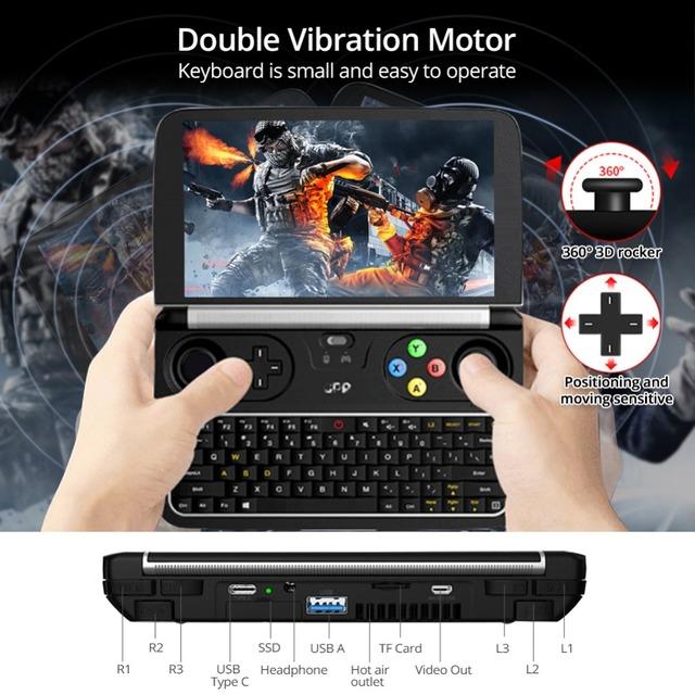 Original GPD WIN 2 Gamepad Tablet PC Intel Core m3-7Y30 Quad Core 6.0″ 1280*720 Windows 10 8GB 128/256GB SSD Gamepad Game Player