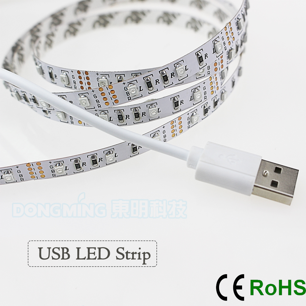 60led m 1m 2m 3m 4m 5m usb led strip light 5v 3528 smd. Black Bedroom Furniture Sets. Home Design Ideas