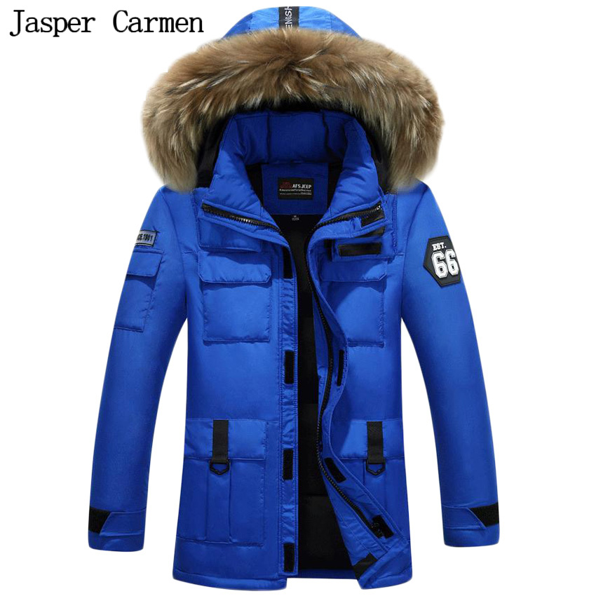 Free shipping new winter down jacket men parka hooded natural fur thicken warm casual overcoat winter