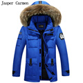Free shipping New Winter Down Jacket Men Parka Hooded Natural Fur Thicken Warm Casual Overcoat  Winter Coats Brand Jacket 190HFX
