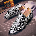 Korean version small leather shoes men pointed shoes Europe America nightclub personality leather Oxford flats shoes loafers
