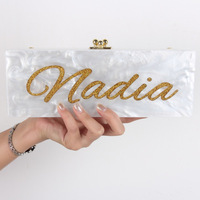 Handbag Handmade Shoulder Bag Acrylic Letter Bag Personalized Acrylic Bag Designer Clutch Customized Unique Acrylic Clutch Bag