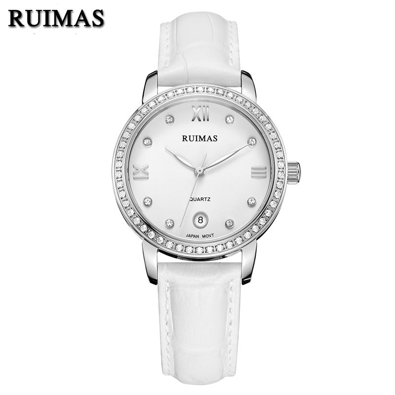 RUIMAS Luxury Quartz Women Watches Relogio Feminino Top Brand Fashion Leather Ladies Watch Clock Women Bracelet Montre Homme  ruimas original ladies watch top brand luxury quartz women watches reloj mujer montre femme for female relogio feminino