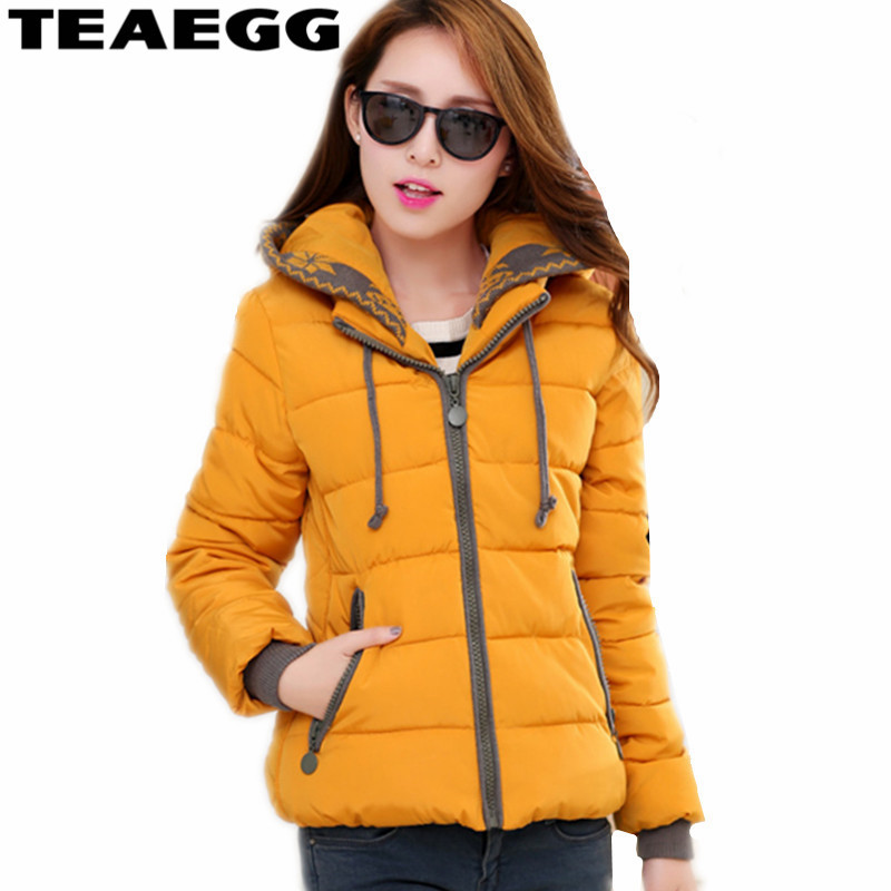 yellow dark rose Red Chaudes purple Coton Femme À Théegg D'hiver Rembourré De 2019 Capuchon Mujer black Parka Al283 Manteaux Veste Green Hiver Red orange Épais Vestes Femmes xR4vS