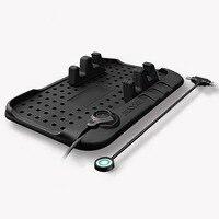 Многофункциональный магнитный автомобильный силиконовый Противоскользящий коврик для зарядки автомобиля USB навигационная база для мобил...