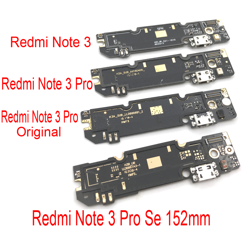 Micro USB Charging Port Dock Charger Plug Connector Board Flex Cable For Xiaomi Redmi Note 3 Pro SE 152mm Special Edition