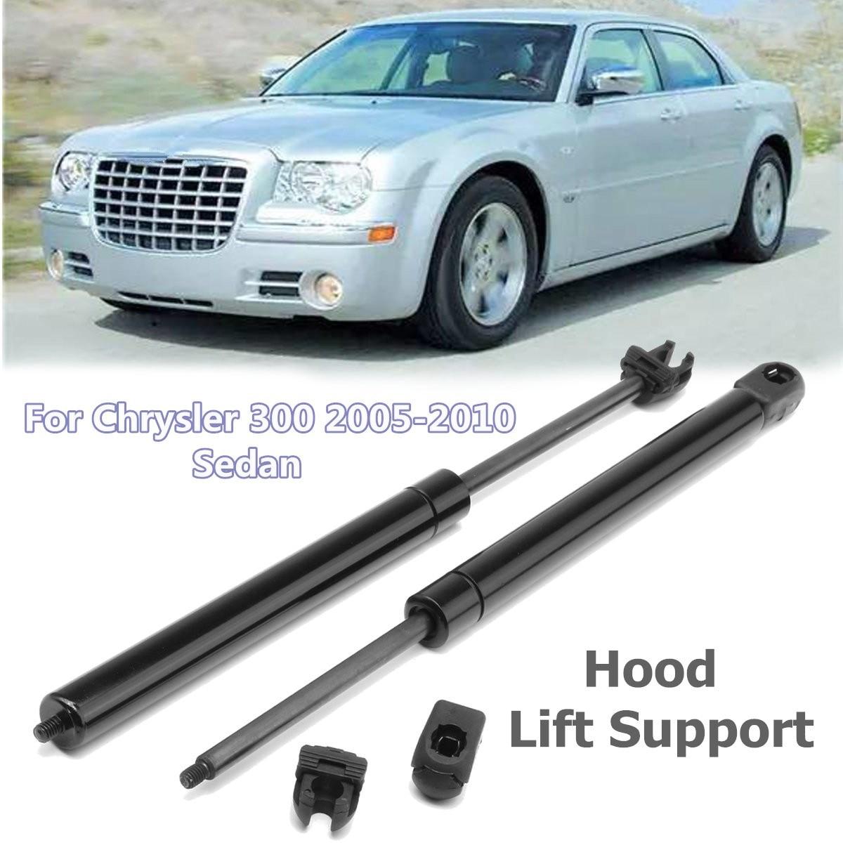 2Pcs 340mm Car Front Bonnet Lift Hood Shock Gas Struts For Chrysler 300 2005-2010 Sedan for Dodge Challenger Magnum система охлаждения after market 5017183ab chrysler 300 dodge magnum concorde