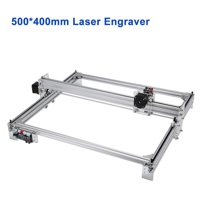 Desktop CNC Laser Engraving Machine 500*400mm Wood Laser Engraver Cutter 5500mW 10W 15W for Wood Metal Engraving Printer CNC5040-in Wood Routers from Tools