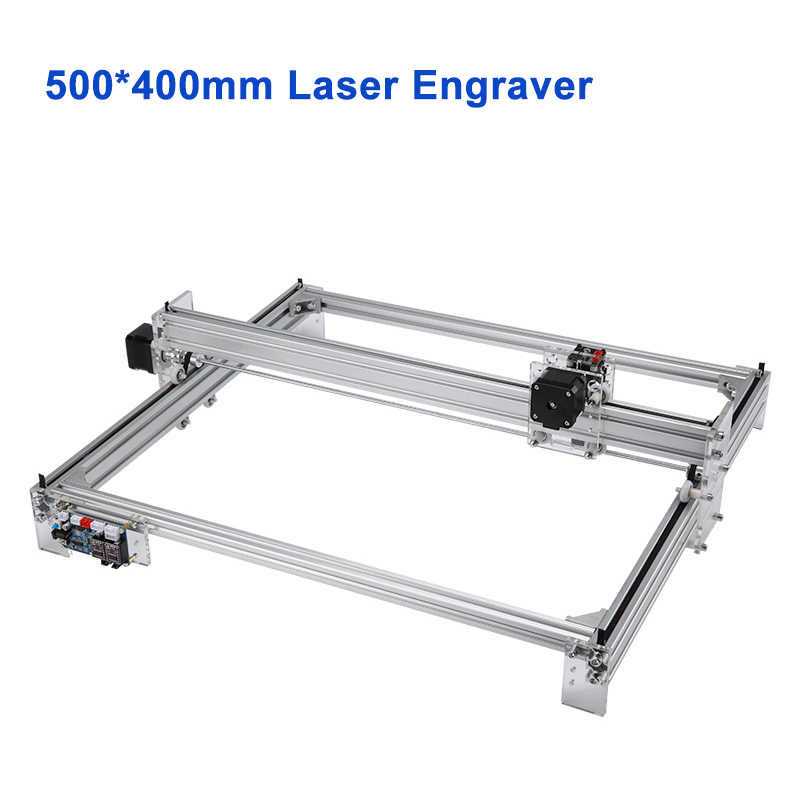 Máquina de grabado láser CNC de escritorio 500*400mm cortador de grabado láser de madera 5500 mW 10 W 15 W para impresora de grabado de Metal de madera CNC5040