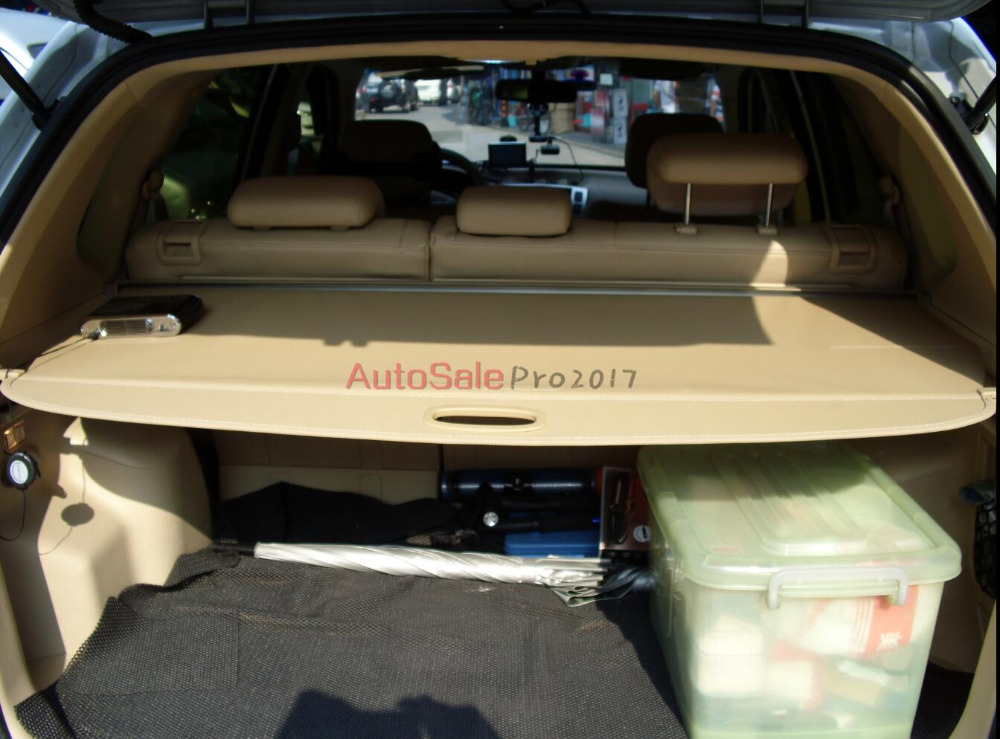 Aluminium alloy + Fabric Rear Trunk Security Shield Cargo Cover For Hyundai Tucson 2007 2008 2009 2010 2011 2012 2013 car rear trunk security shield shade cargo cover for honda fit jazz 2004 2005 2006 2007 black beige