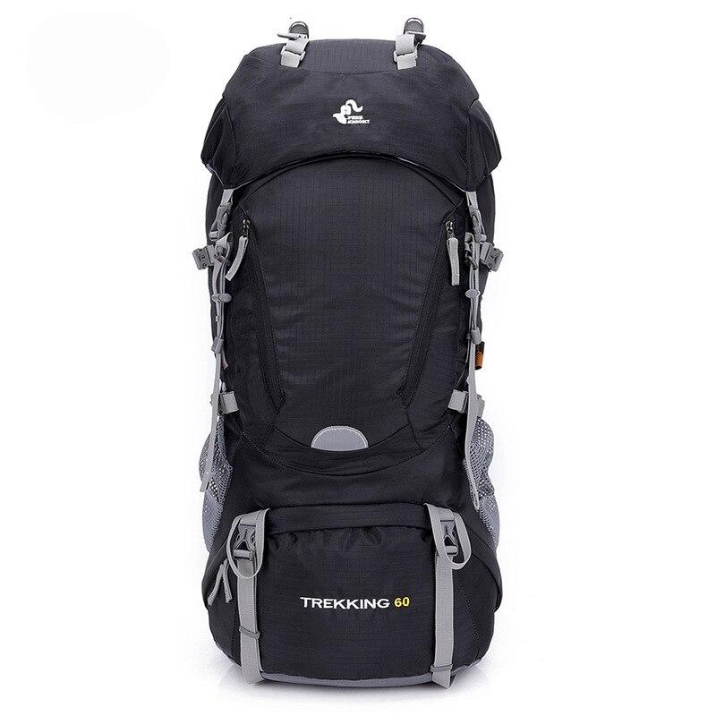 Chevalier gratuit 60l randonnée en plein air sacs à dos sac à dos Sport sac à dos voyage escalade sacs imperméable Trekking Camping sac à dos