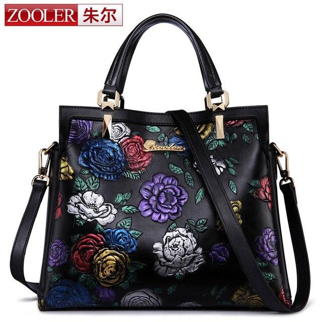 ZOOLER Real Leather Handbag Women Love Chinese Style Lady Bag Vintage Real  Leather Shoulder Luxury Handbag Color Floral Designer c689ba85be976