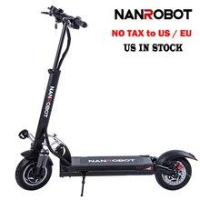NanRobot D5 + электрический скутер для взрослых 10 »складной легкий 2000 Вт 52 в 26AH топ скорость 40 MPH 40 миль диапазон 2 колеса