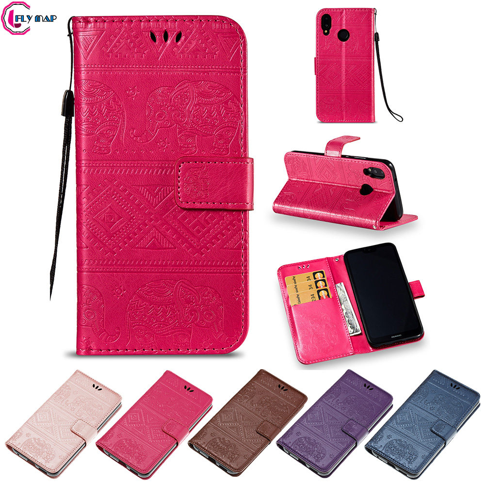 Flip Elephant Coque for Huawei P20 Lite ANE-LX1 ANE-LX2 Case Retro Flip Wallet PU Leather Cover for Huawei P 20 Lite ANE-LX3 Bag