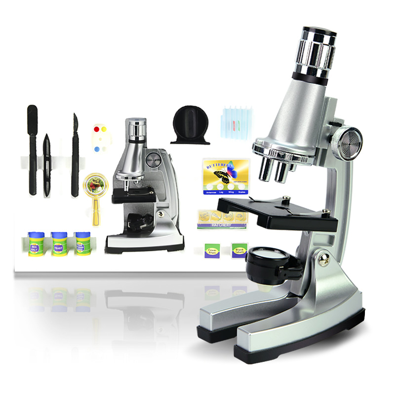 Birthday Gift 1200X Student Toy  biological microscope for Educational Beginner to Learn Science and microcosm