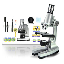 Kids Gift 100x 400x 900x Illuminated Biological Student Microscope with Reflecting Mirror Lamp for Children to Learn Science