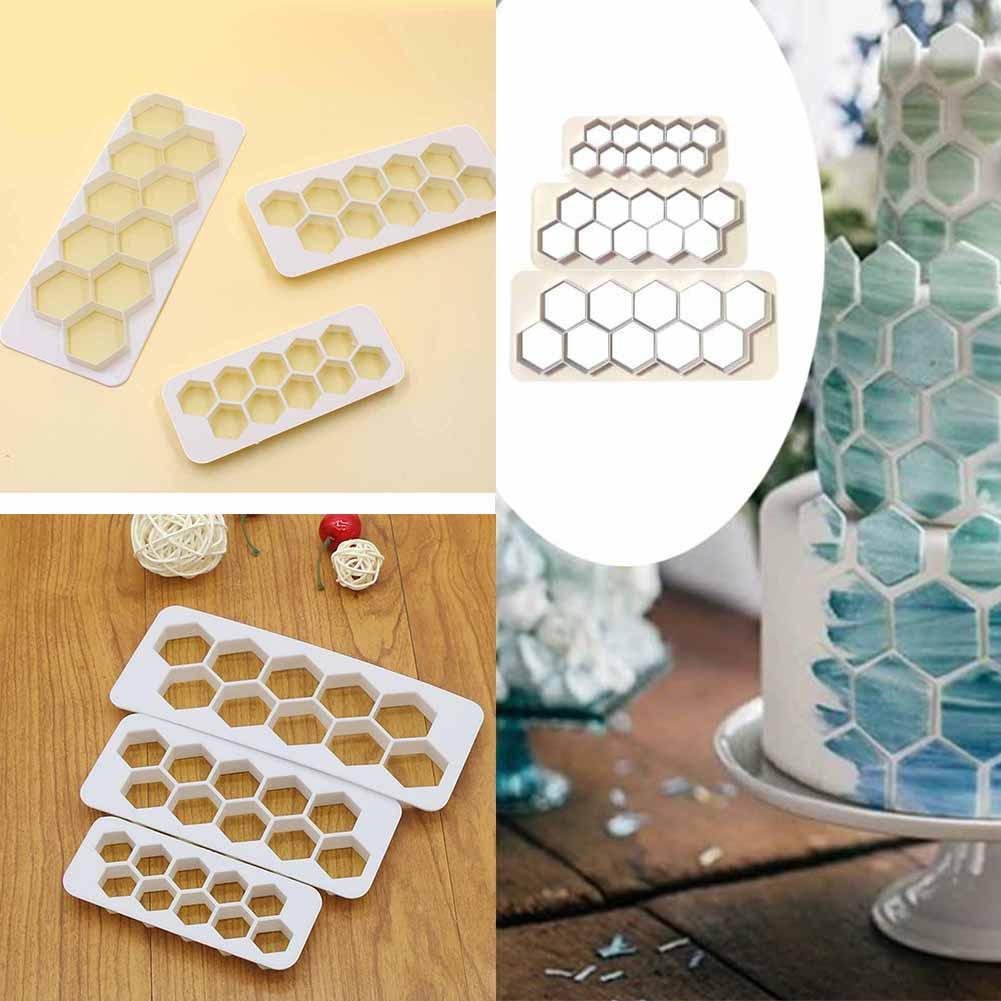 Image 5 - 3Pcs Square Geometric Cutters Fondant Cookie Geometry Cake Fondant Mold Cake Decorating Tools Baking Accessories-in Cake Molds from Home & Garden